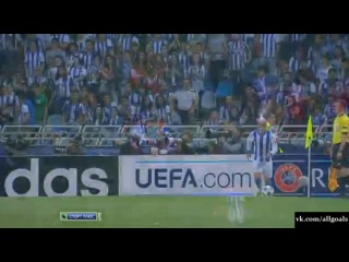 Реал Сосьедад 1 - 0 Лион. Гол Вела 28.08.2013