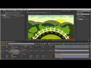 Создание анимации векторного автомобиля в After Effects. Урок 3