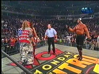 Bret Hart & Hollywood Hogan vs. Sting & The Warrior - [WCW Nitro - 1998] - Комментатор Н. Фоменко
