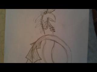 как рисовать водяного дракона часть 2