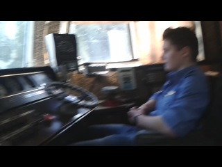 Евген_Паровоз и Денчик после смены на БМО в кабине ЭД4-001