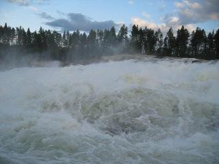 Вадище-бурлище 2!)) (Север Швеции, водопад Storforsen, 15.08.2012г. )