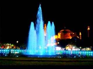 фонтан напротив святой софии,голубой мечети(султан ахмет) и герем султам хомам