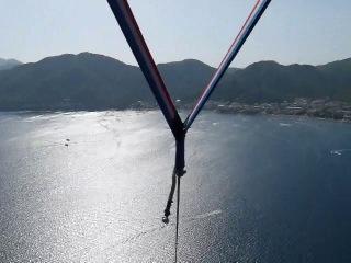 Полет на парашуте (парасейлинг) на высоте 600м над бухтой Мармариса