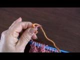 Невидимый узел для связывания нитей (ткацкий узел)