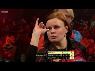 Anastasia Dobromyslova vs Karin Krappen (BDO World Darts Championship 2014 / Round 1)