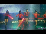 [fancam] EXID  - Whos that girl (на CONSOLING ARMED FORCES BROADCAST TRAINS)