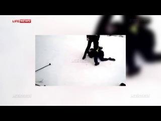 Полицейские устанавливают, почему педагог не пресек жестокое избиение ученика 16-летним подростком прямо на лыжной трассе_
