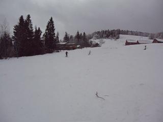 Алёначка, Галанчик и Борька на лыжах
