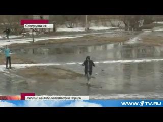 Первый канал о Прогульщиках на лыжах в ПУ 22. Северодвинск