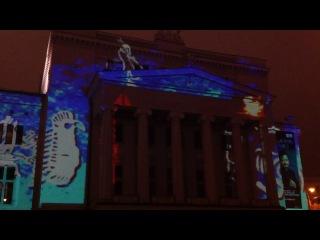 Световое шоу на фасаде национальной оперы в Риге - улет как красиво