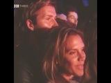 Виктория и Дэвид на концерте. Выступление Мерайи Кери