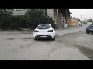 Opel Astra J Turbo , полный выхлоп 63.5мм, глушитель Mg-Race