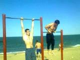 на пляже(воркаут тренировка) 22.06.2013