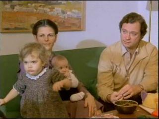 Принцесса Виктория с родителями готовит рождественское печенье