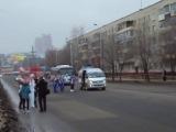 Марафон Олимпийского огня в Хабаровске, ул. Пионерская.
