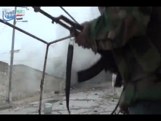 Сирия Одним выстрелом 8 джихадистов в аду