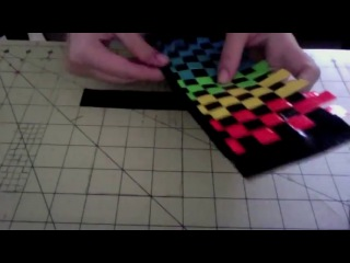 How to make a duct tape woven wallet