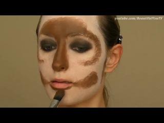 Cat mask halloween makeup tutorial