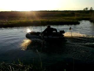 ПВХ FLINC-290L под мотором HDX-2,5 - я на рыбалке