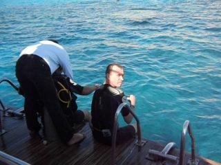 Египет. подготовка к погружению с аквалангом