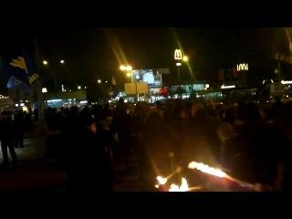 16 ноября 2012 года в Харькове ВО «Свобода» провела марш против нелегальной миграции под лозунгом «Зиг-хайль-Рудольф-Гесс-Гитлерюгенд-СС!»