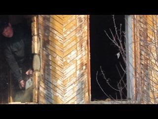 установка окон, деревянный дом (демонтаж)