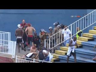 Atletico Paranense - Vasco Da Gama maçında çıkan büyük olaylar