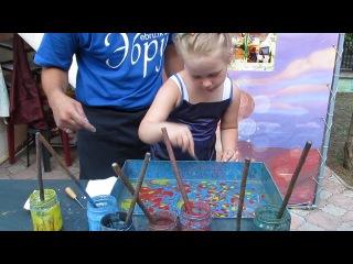 Мастер-класс по рисованию: древняя техника Эбру - рисование красками на воде