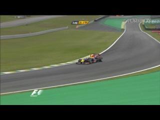 FORMULA-1. Феттеля развернуло на «Гран-при Бразилии 2012» (видео)
