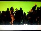 Совместный танец актёров на съемках фильма