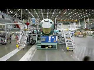 Как делают самолеты . Сборка Боинг 737NG