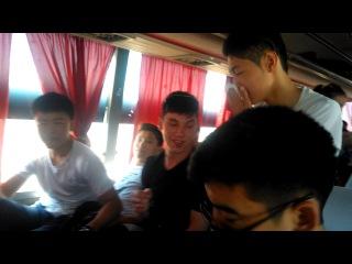 № 233 школа В Туркестан в Автобусе 2часть