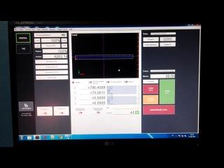 Интерфейс программы ЧПУ mach3 для станка плазменной резки в работе