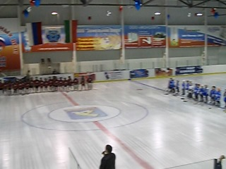 Торжественное открытие турнира по хоккею с шайбой среди мальчиков 2006г. в Ледовом дворце Юность.