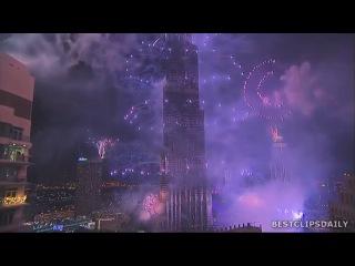 Новогодний салют в Дубае. Попал в книгу Рекордов Гинесса.