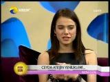 Doç.Dr.Hayati Akbaş,ünlü oyuncu Ceyda Ateş ve Azeri Sanatçı Nüşabe Elesgerli