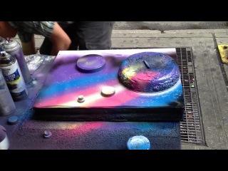 Уличный художник создает восхитительную картину за 6 минут