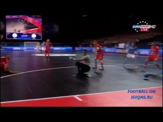 Россия 4 - 3 Испания. ЧЕ По Мини-Футболу (06.02.2014)