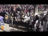 Майдановцы против Беркута 18.02.2014, Бои на ул. Шелковичной, Киев, Украина, Майдан, беспорядки, драки, жесть