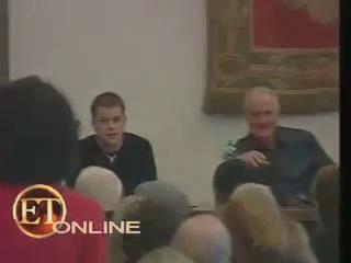 Пресс-конференция фильма «Одиннадцать друзей Оушена» в Риме, Италия (2001)