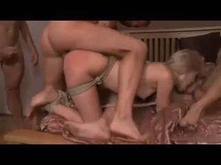 Russian star Sasha Rose in her best ever scene of bondage and gangbang