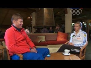 Сборная-2014 с Дмитрием Губерниевым. Биатлон (Женская сборная) от 02.02.2014