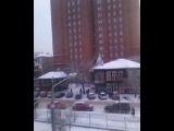 Пытась заснять, как красиво падал снег, а получилось видео обращение для Иры