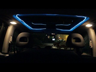 Подсветка люка холодным неоном(со всетомузыкой) Nissan X-Trail ll