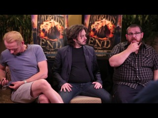THE WORLD'S END Interview Edgar Wright, Simon Pegg, and Nick Frost