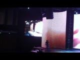Ирина Пухонина (Бухарина) на сцене - посвященном Олимпийским играм в Сочи