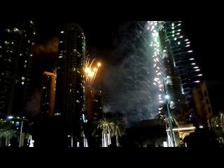 Встреча нового года 2014 у самого высокого здания в мире и самого большого шоу фейерверков!