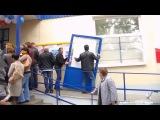 Открытие АТБ в Богодухове (Сломали двери)