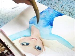 Как рисовать Эльзу из Холодного сердца